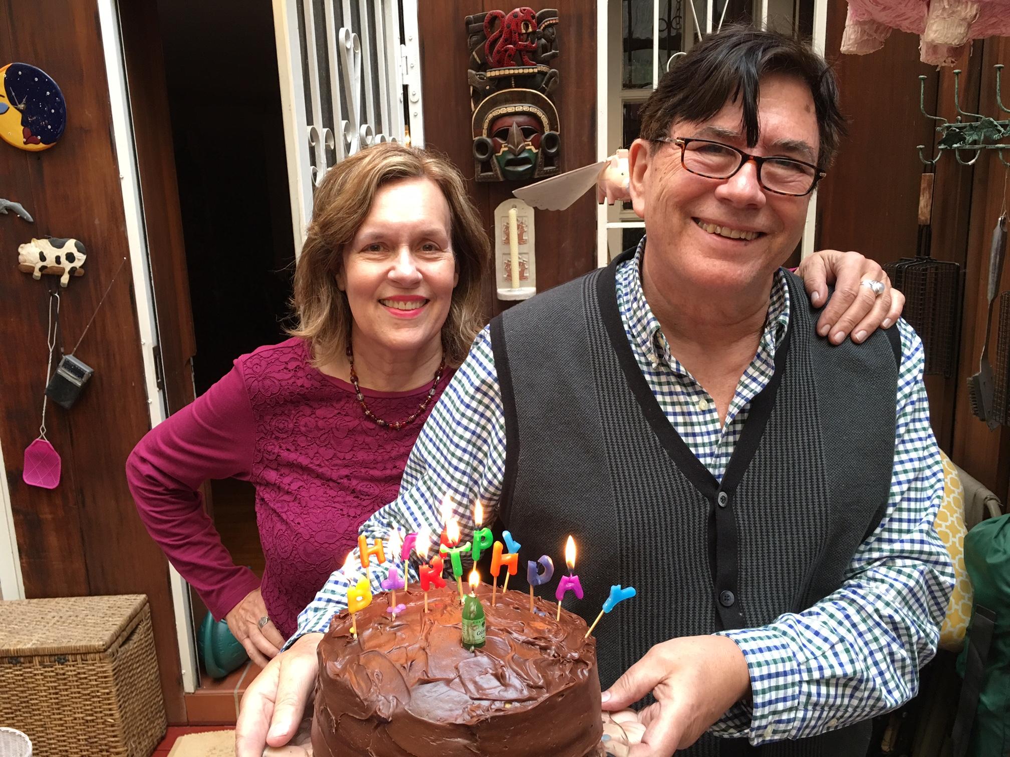 Lorraine & John's birthdays, 2017