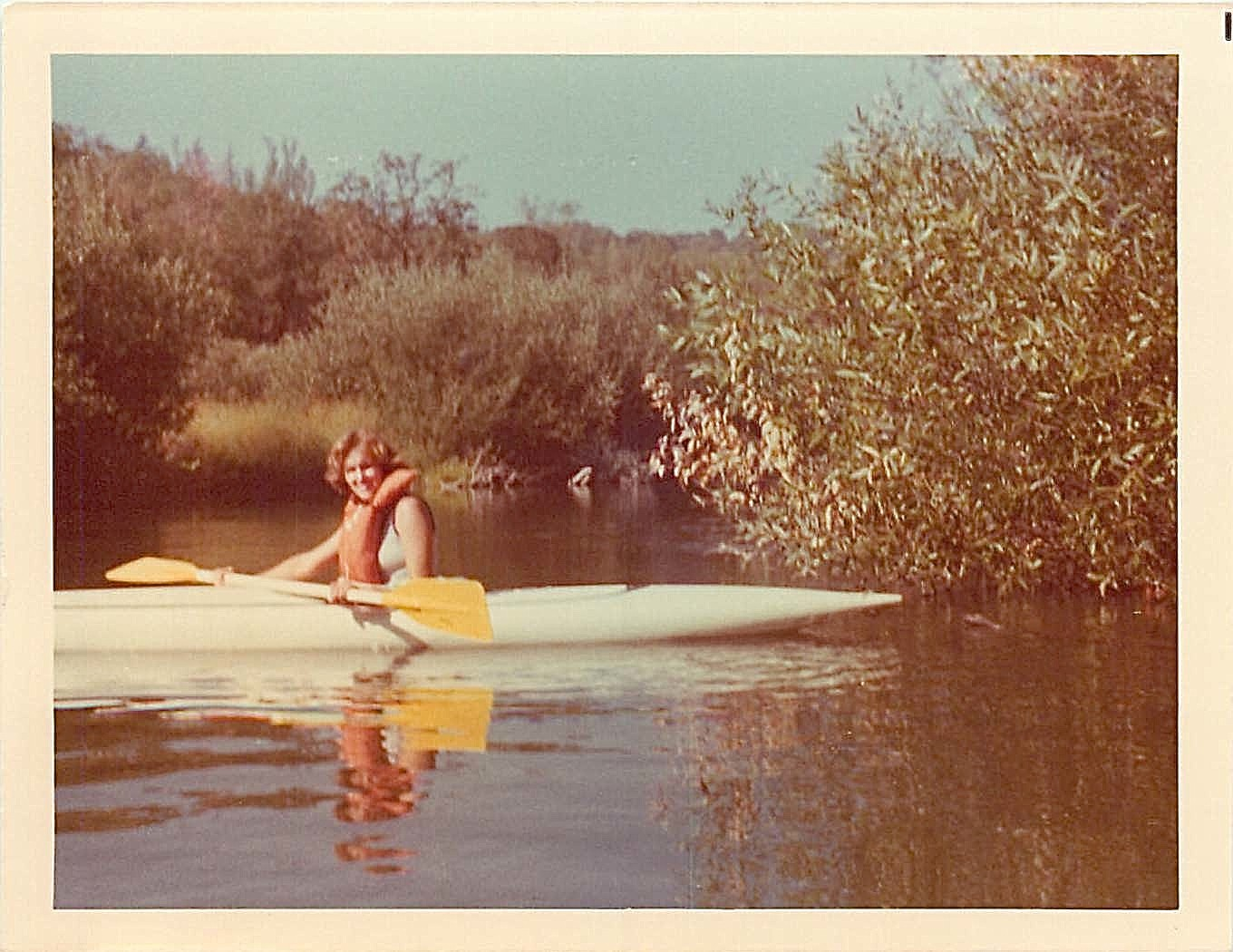 Lorraine on the Russian River, August, 1977