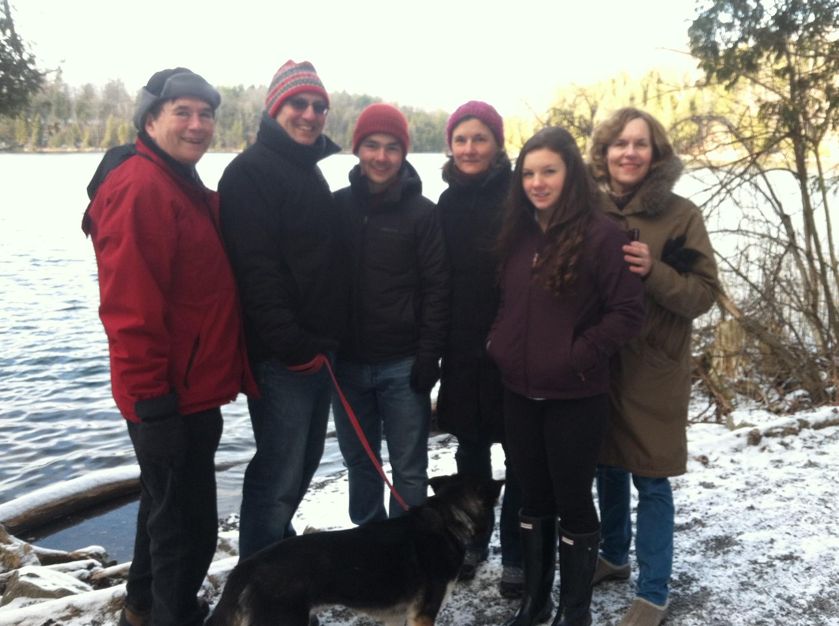 Green Lakes, Dec. 30, 2014  John, Nick, Trevan, Cyndi, & Sara Signorelli, Lorraine
