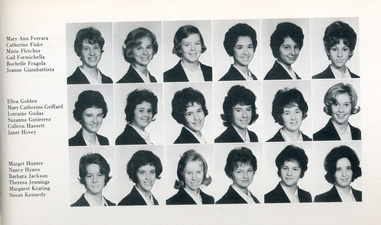 Freshman year, 1960s Convent School