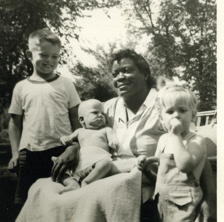 Collin, Stuart, caregiver, Kathy Kagel  1945?