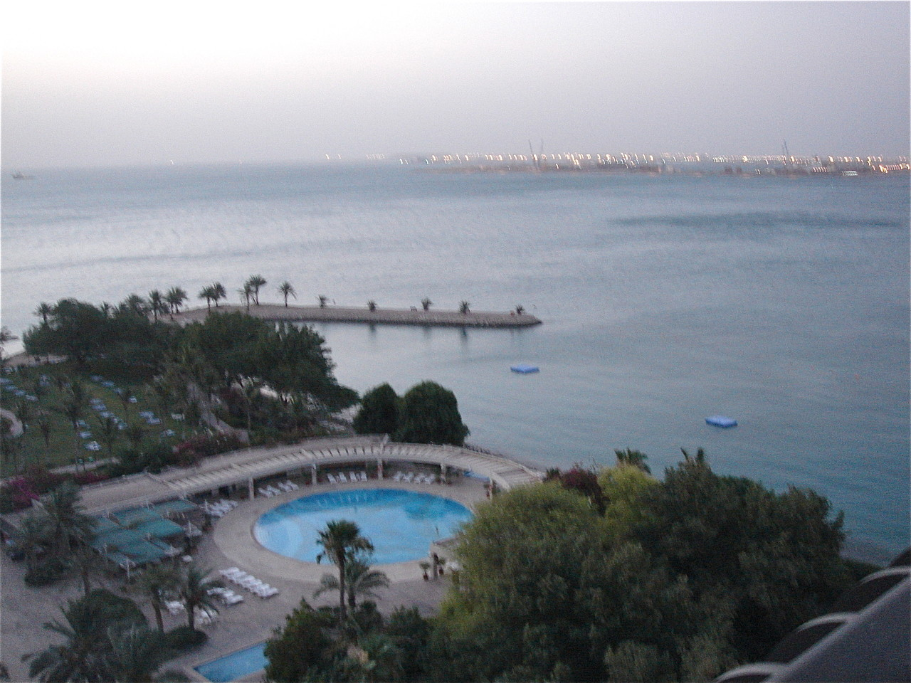 view from room, Sheraton Doha, Qatar