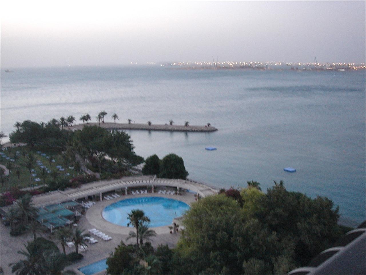 view from room, Sheraton Doha, Qatar