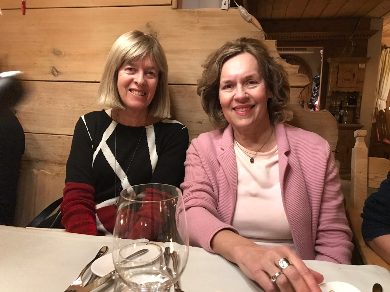 Nancy and Lorraine, Dec. 2017, Klosters, Switzerland