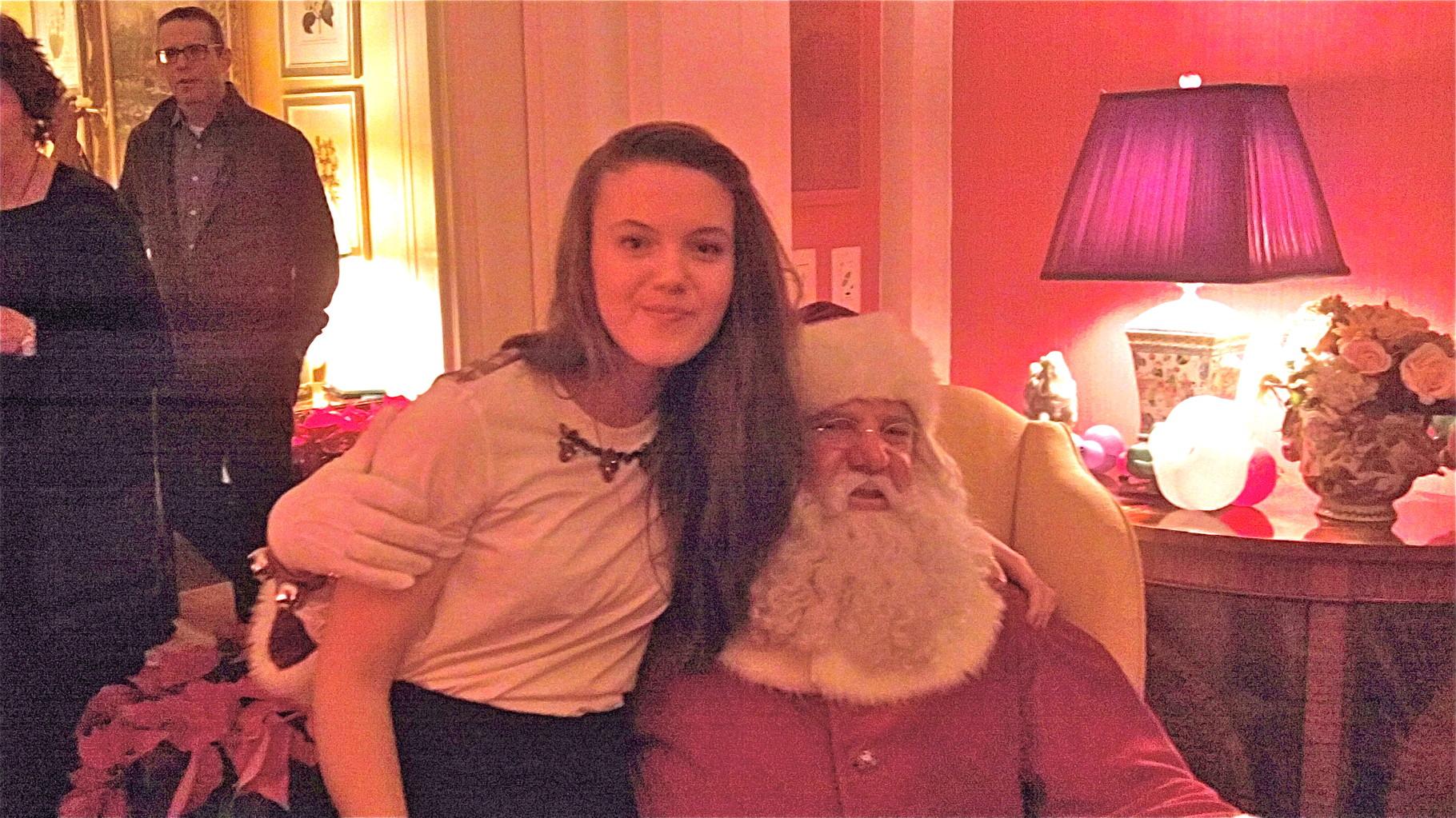 Kate K. & Santa