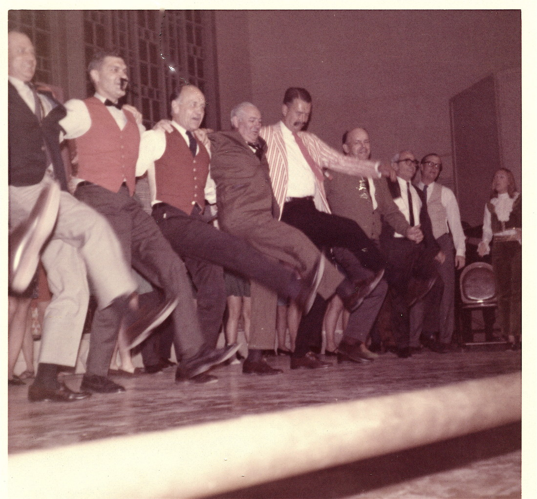Al Gudas in the chorus line, 1968, Smith College