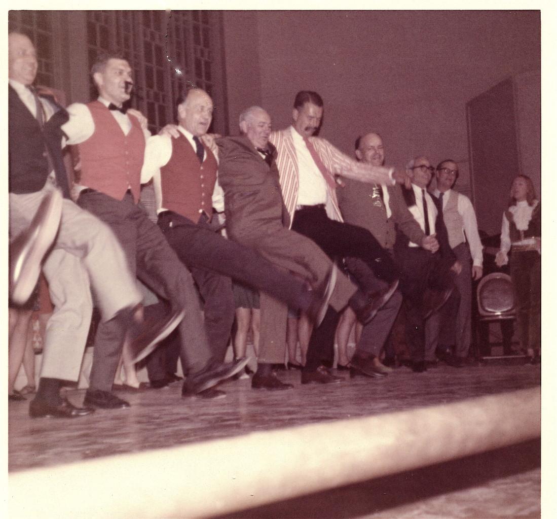 Al Gudas in the chorus line, 1968, Smith College