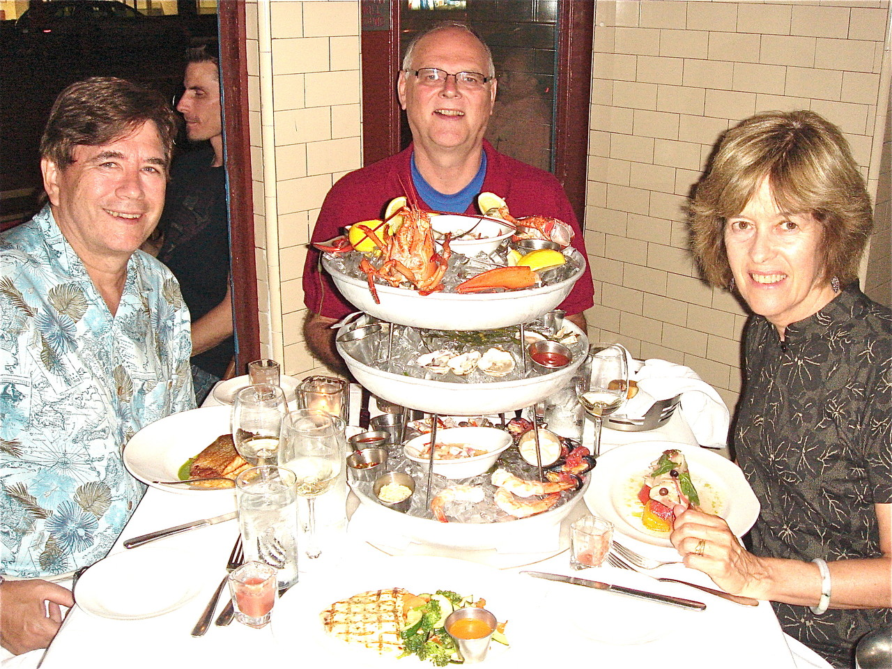 John, Bernd  & Nancy with the Skyscraper at Atlantic Grill
