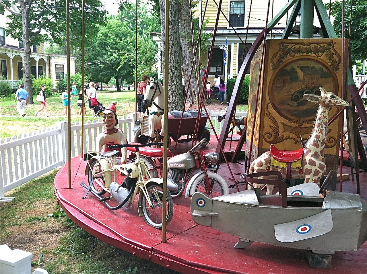 Antique French 1910 amusement park rides, Governor's Is. July 21, 2013