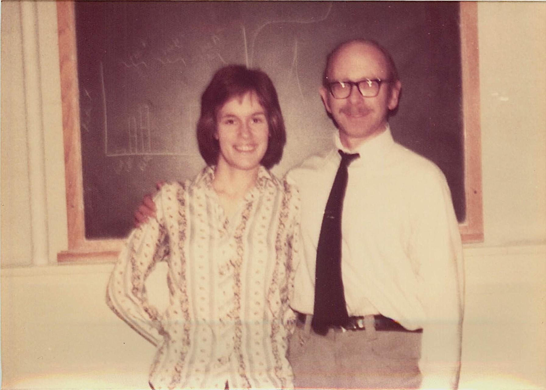 Lorraine Gudas & her mentor/advisor, Dr. Arthur Pardee, Princeton, 1975