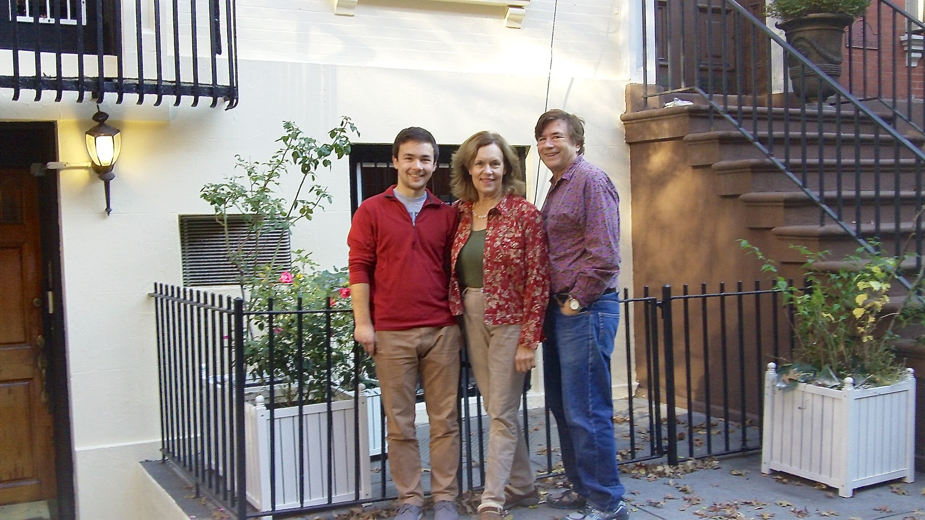 Trevan, Lorraine, & John  Nov. 8,  2015  Trevan is Lorraine's cousin Cyndi's son-he attends Cornell University