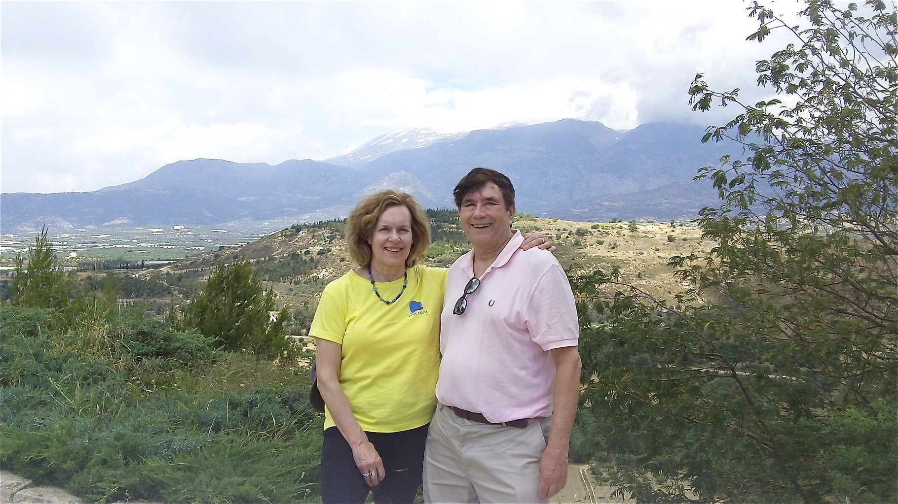 Lorraine and John at Phaestos, Crete