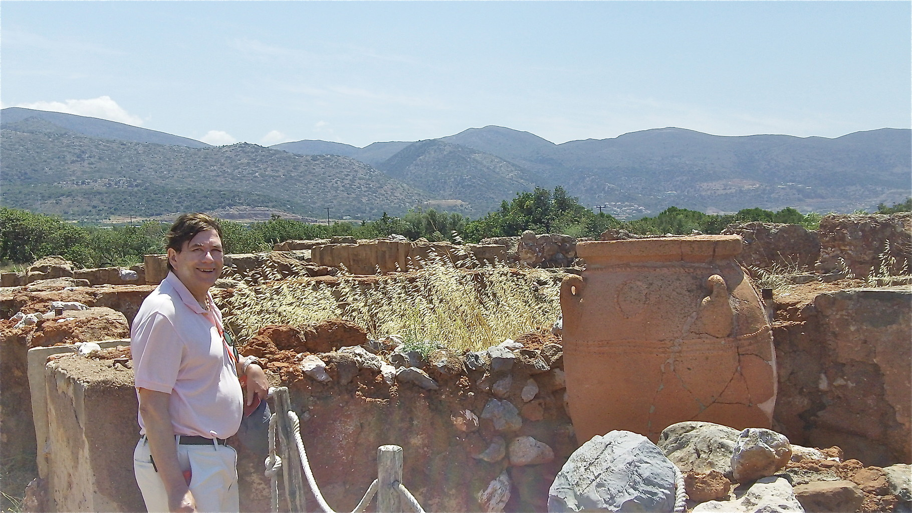 John at the ruins of the Minoan Palace at Malia