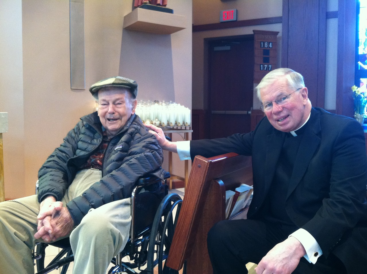 Al Gudas & Msgr. Yeazel, Holy Cross Church 3-31-2013