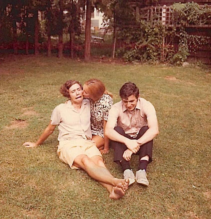John Wagner, Lorraine, & Murray Weingarten, Princeton, summer 1971 Earl Browder residence