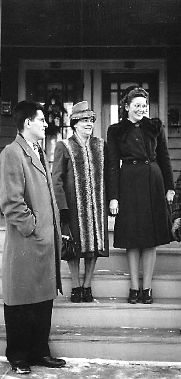 Ray, his mother Stephanie, & Opal, Ray's wife  1940s 106 Kinne St. Syracuse, NY