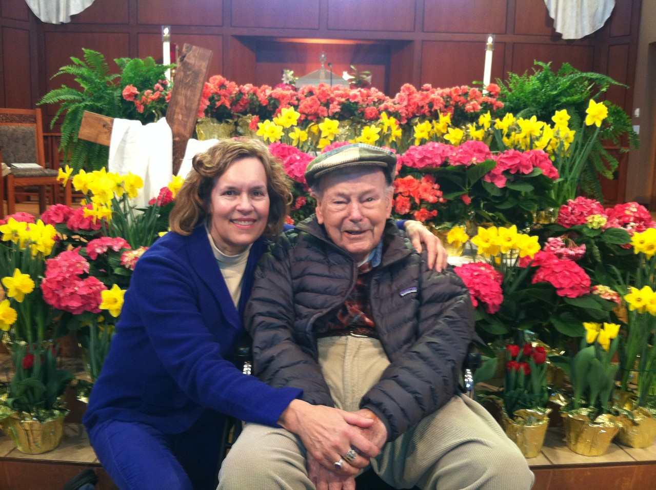 Lorraine & Al Gudas, Holy Cross Church, Easter, 2013