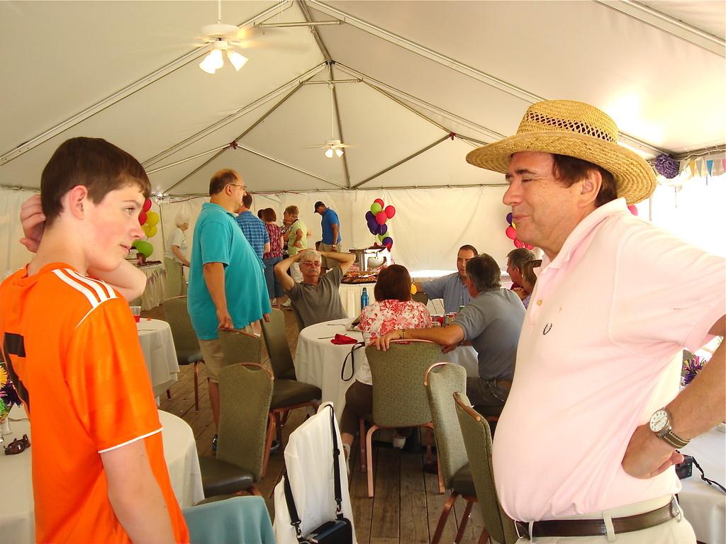 Michael (Donald & Robin's son, 13) & John Wagner talk