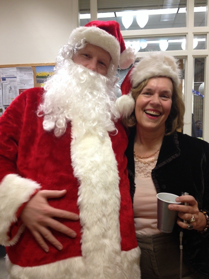 Santa & Lorraine at the Pharmacology Dept. Holiday Party