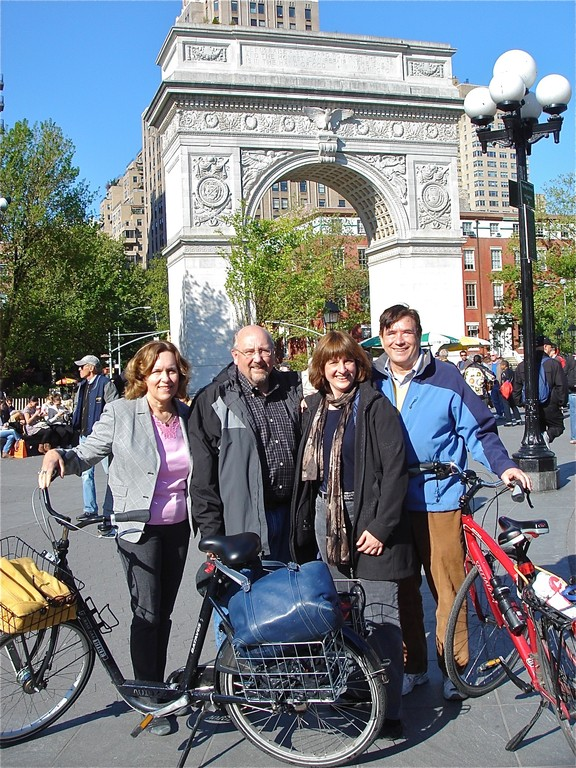 Lorraine, Steve, Sandra, John  Washington Sq. Park, April, 2012