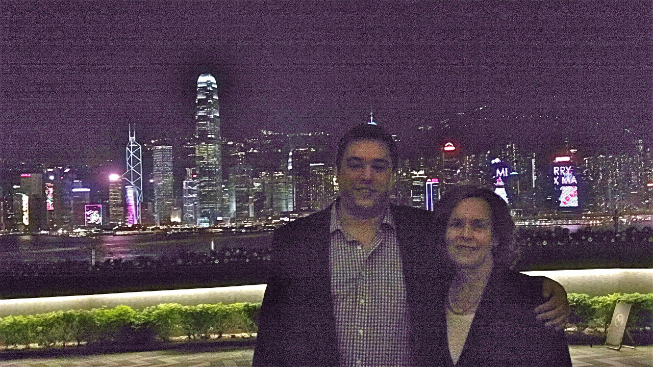 Greg & Lorraine, HK at night