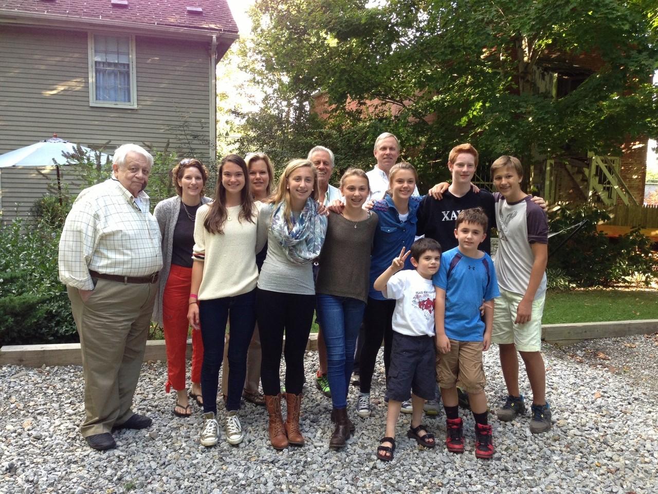 Colin, Lisa, Ellie, Celeste, Emma, Stuart Sr., Gabby, Stuart Jr., Kate, Sam, Noah, Stuey III, & Jack Kagel  Sept 2013 Connecticut