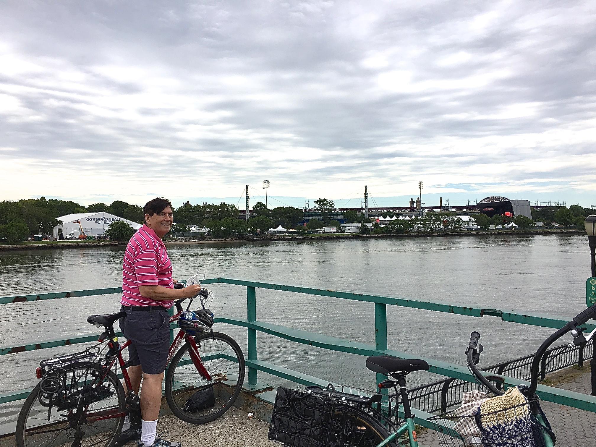 June 4, 2017  John overlooking the Governor's Ball concert scene on Randall's Island