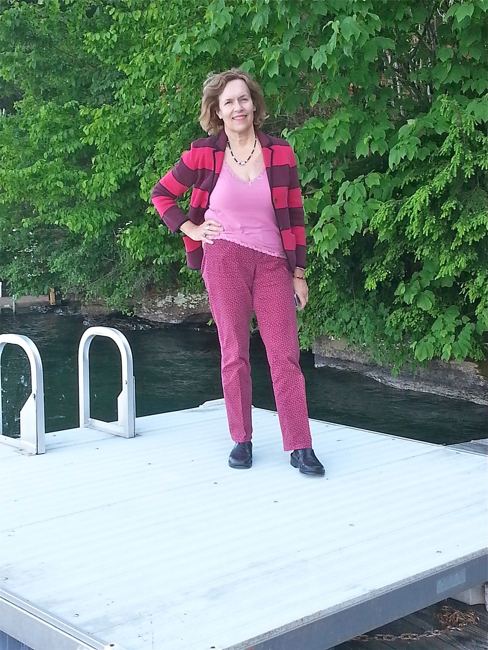 Lorraine at the lake before the reunion, June 21, 2014