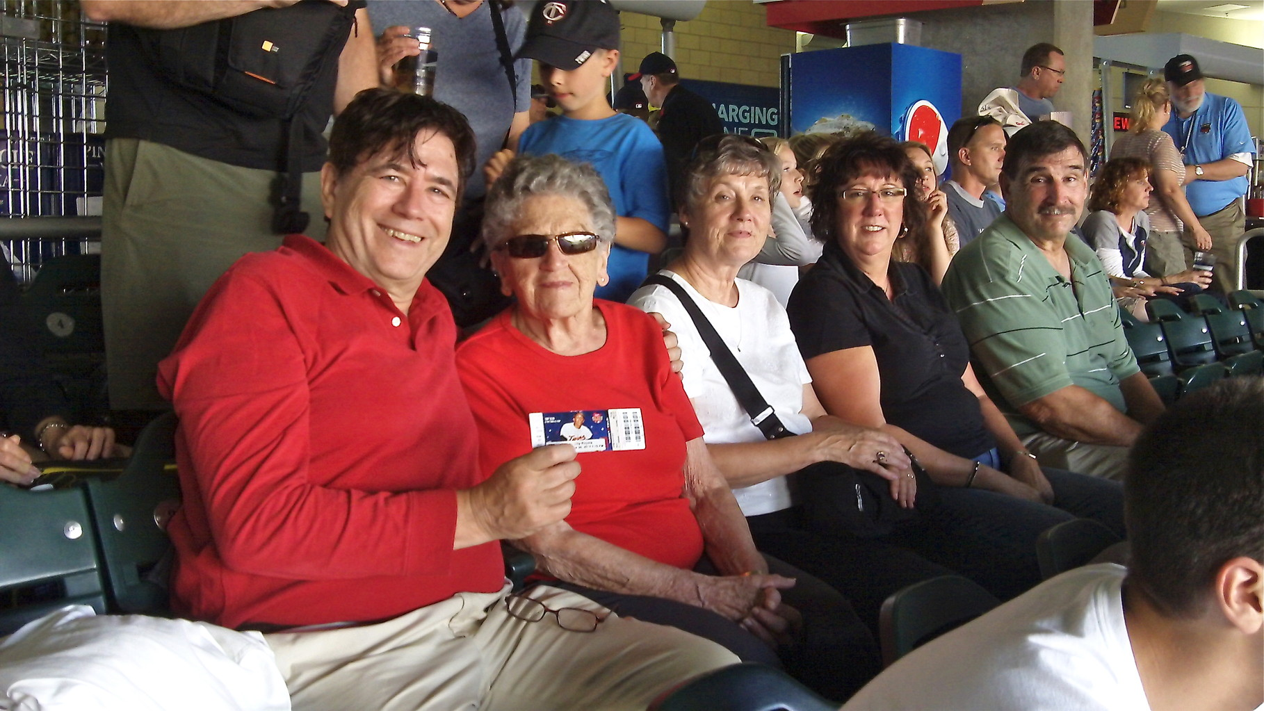 John, Mary Lou, Cindy, Jill & Paul at the game.