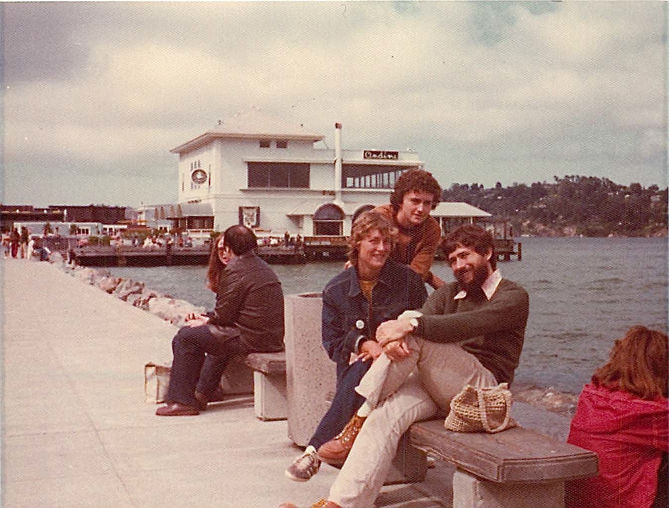 Cindy, Ann, & John Wagner, Aug. 1975 Sausalito, CA