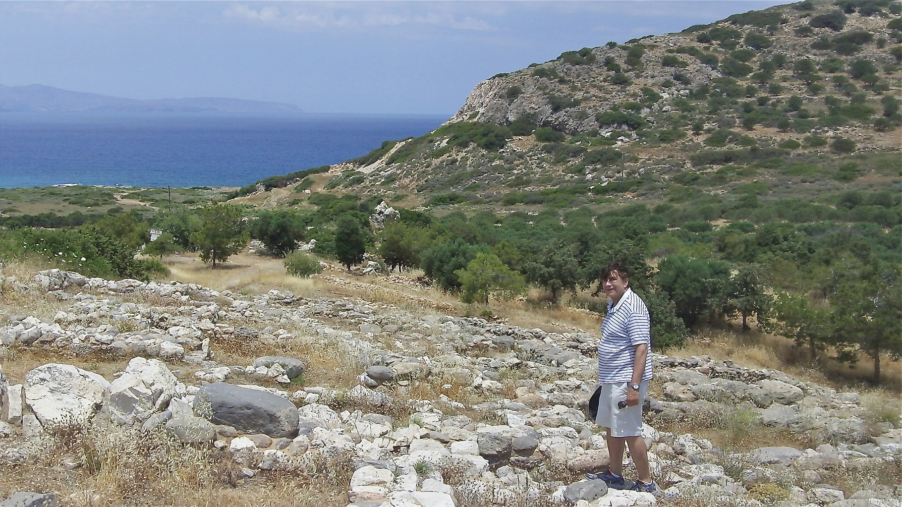 John near the palace, ancient city of Gournia,  town occupied from 2500 BC to ~1000 BC.