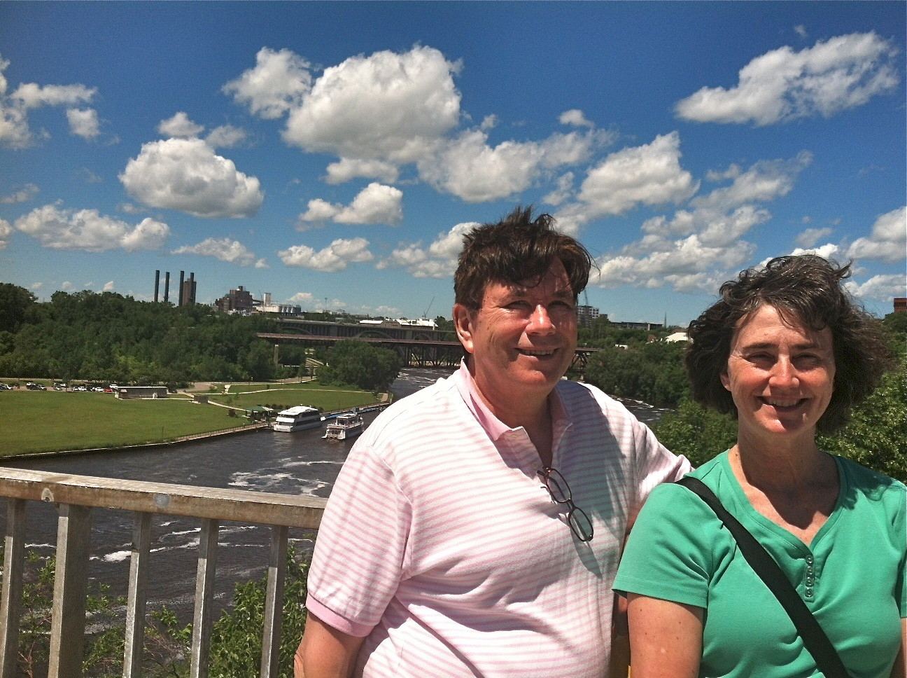 John & Ann above the Mississippi River.