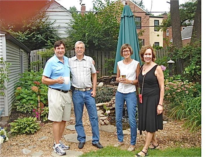 John, Antonio, Jill & Lorraine at Sally's house Aug. 18th