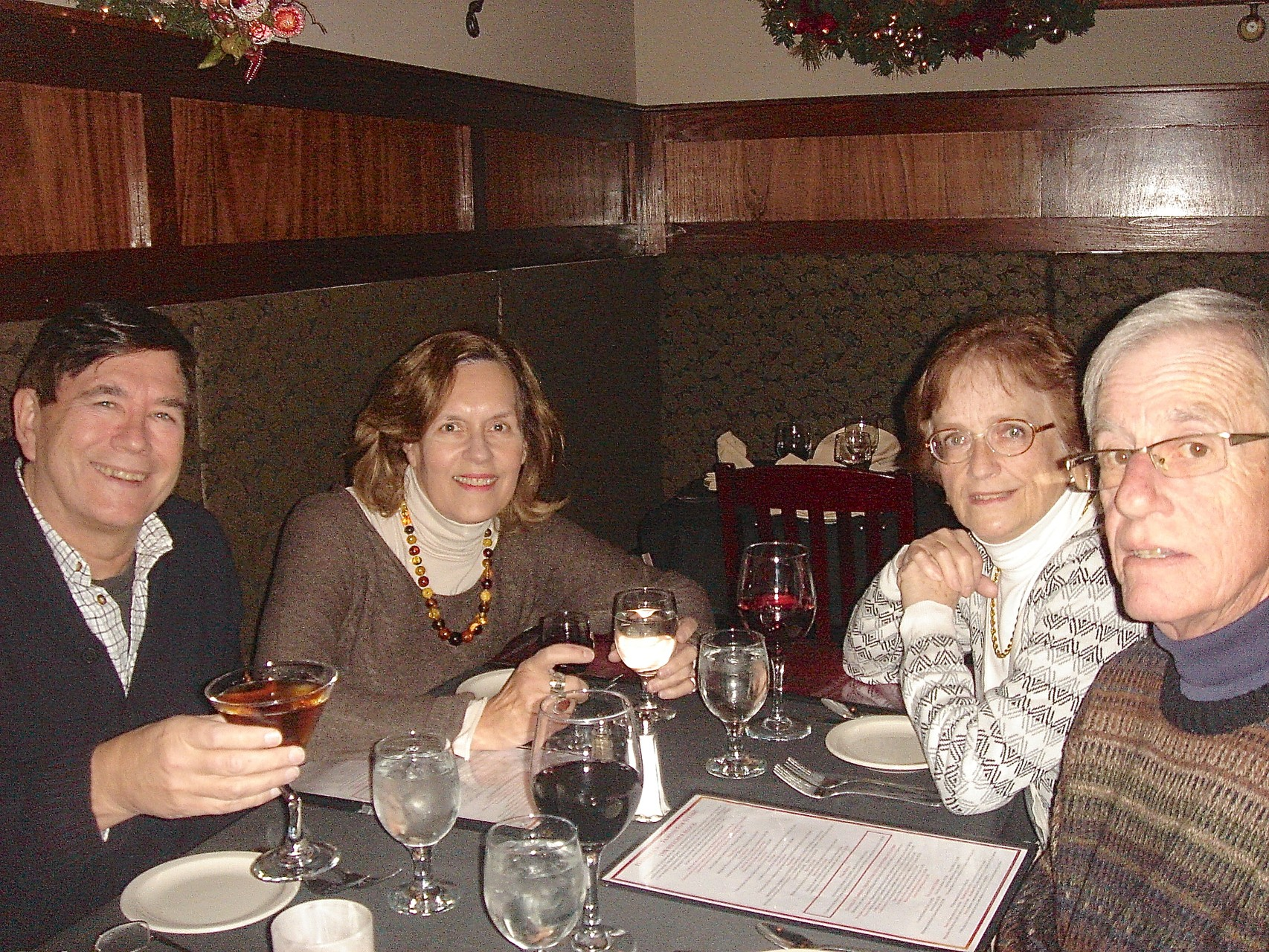 John, Lorraine, Jeanne, & John Sheridan at Daniella's Steakhouse, Syracuse, NY