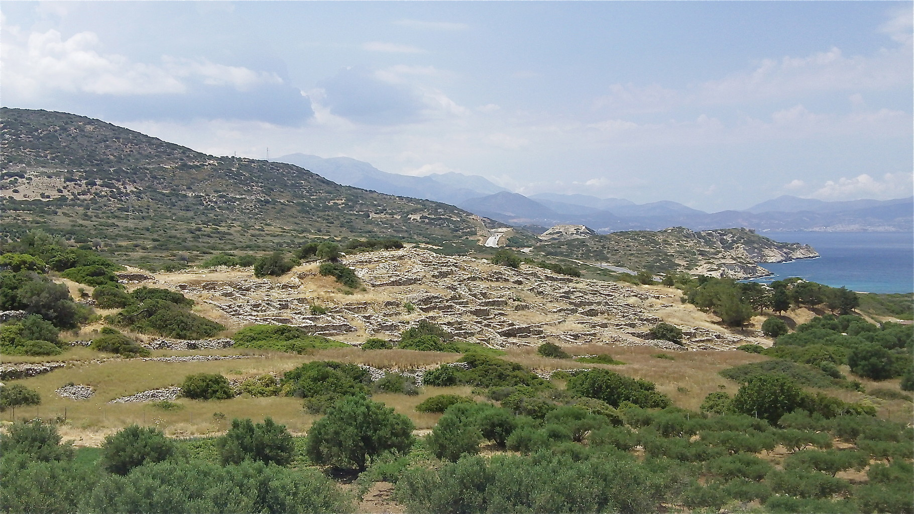 the ancient Minoan city of Gournia, Crete: about 1000 people lived here in ~ 2000 BC