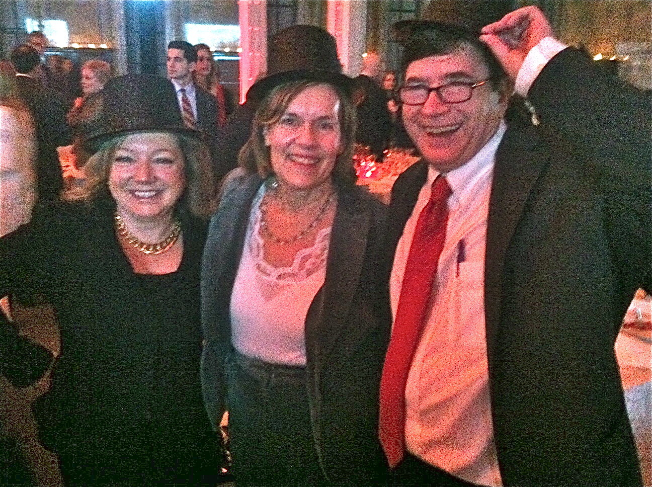 Marion Knowles, Lorraine & John at the party for Sandy Weill, 1-30-15