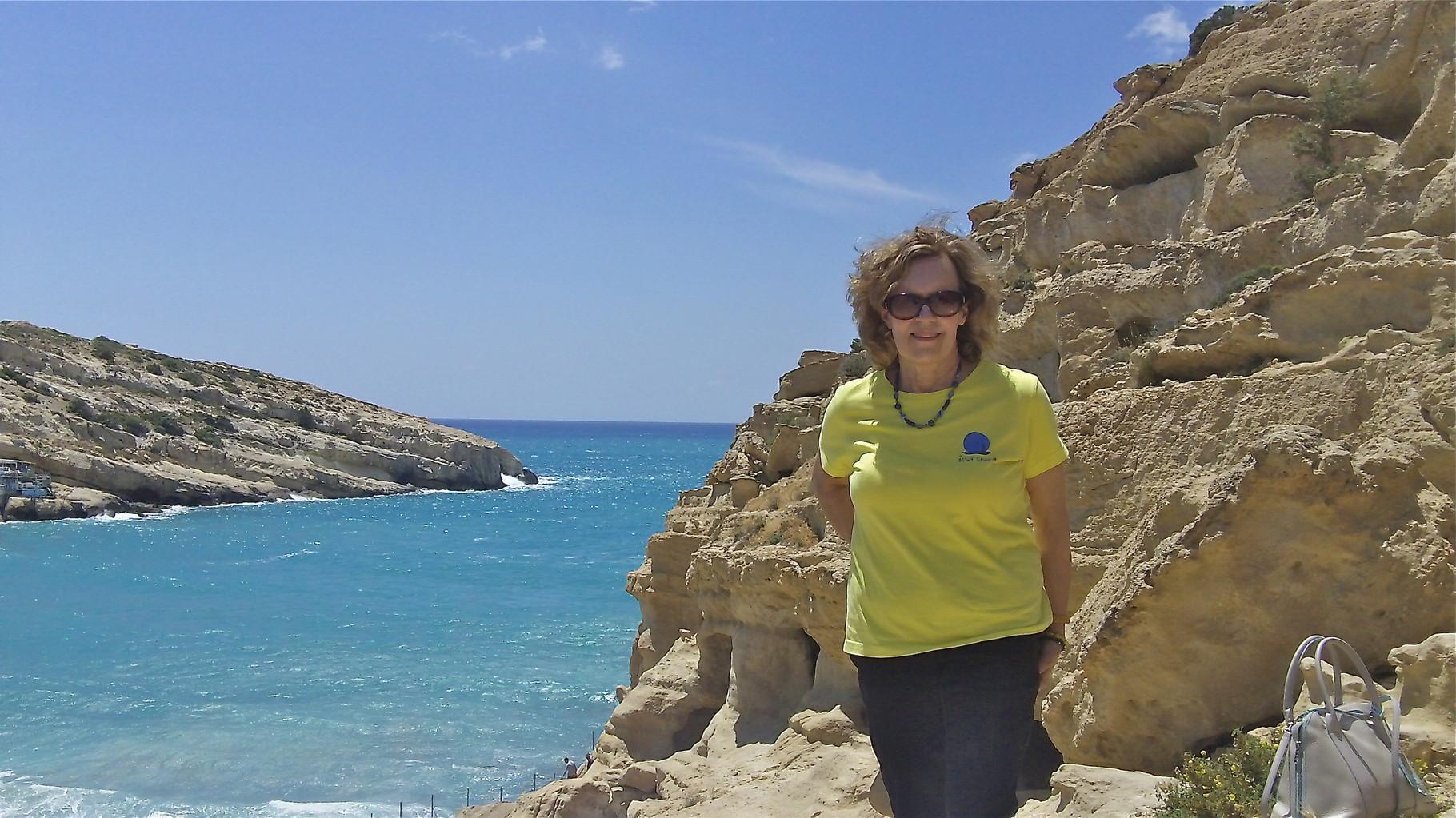 Lorraine at Matala Beach