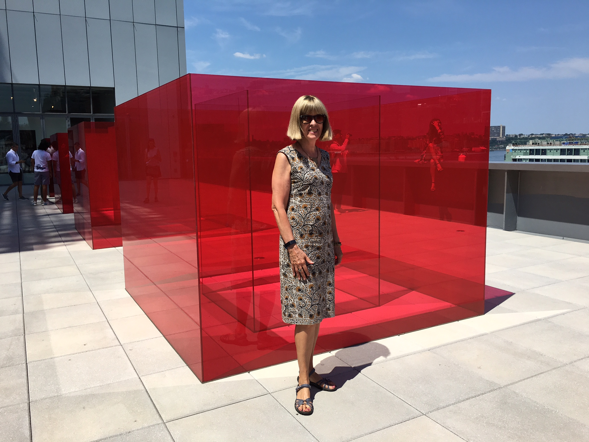 Nancy at the Whitney Museum, NYC