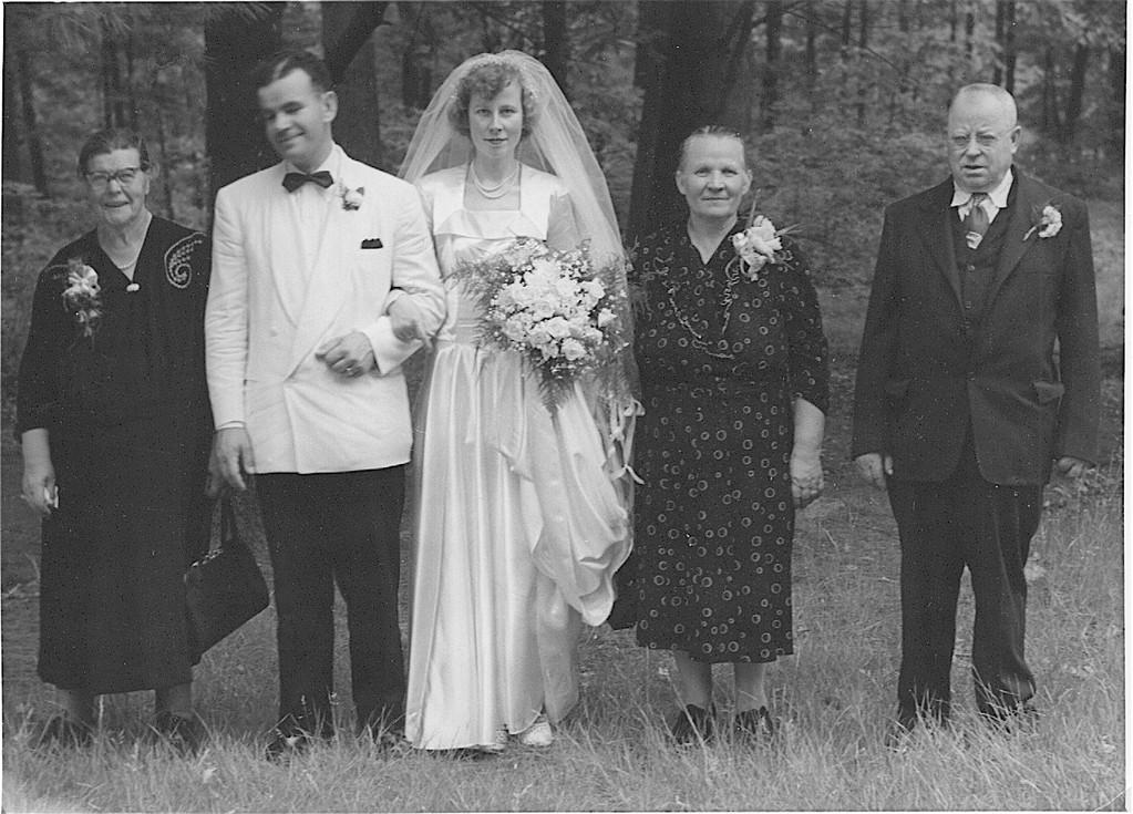 Helen; Tony & Helen; Helen's parents, 1948?