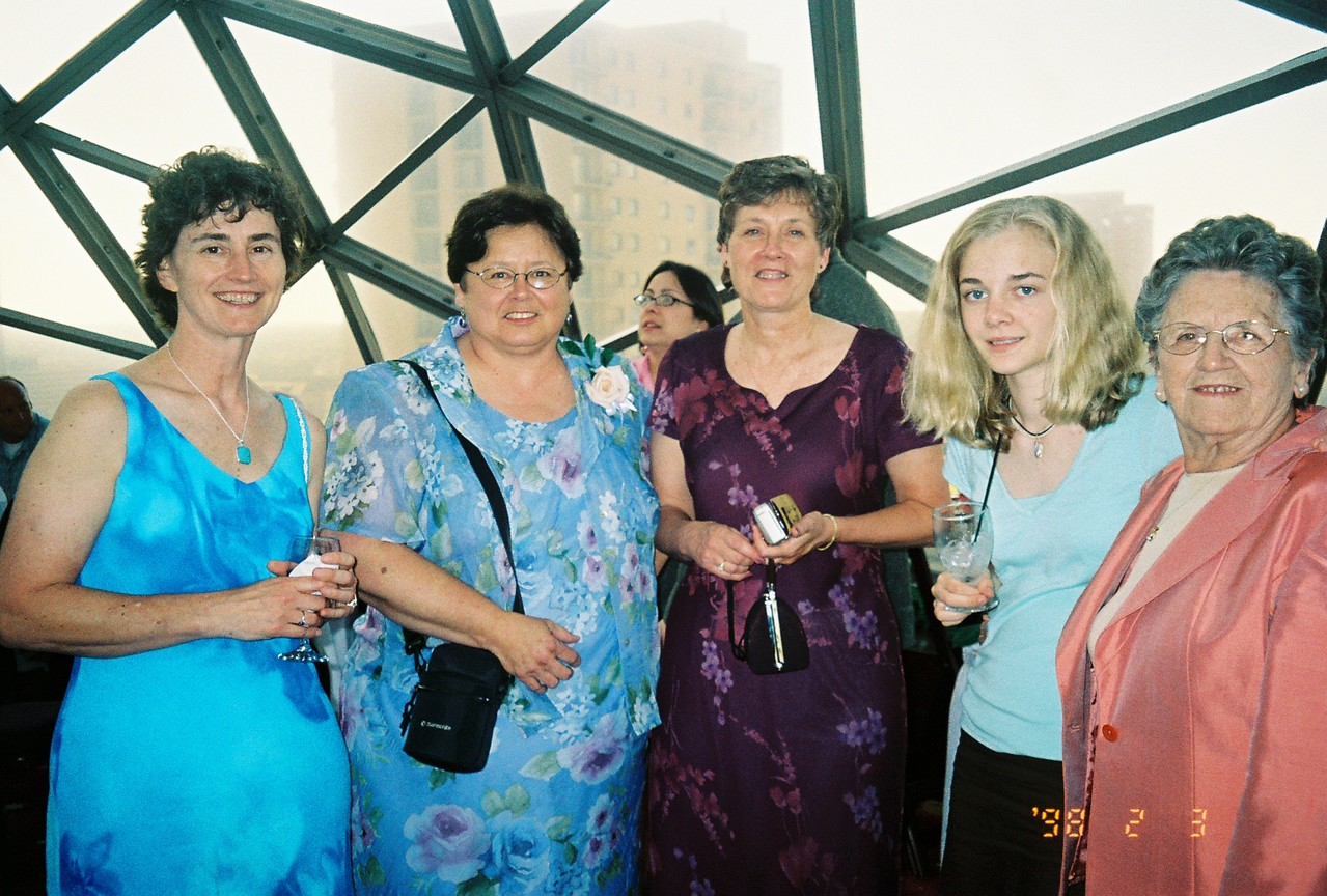 Wedding, Minnesota, 2004 Ann, relative, Cindy, Kathleen, Mary Lou Wagner