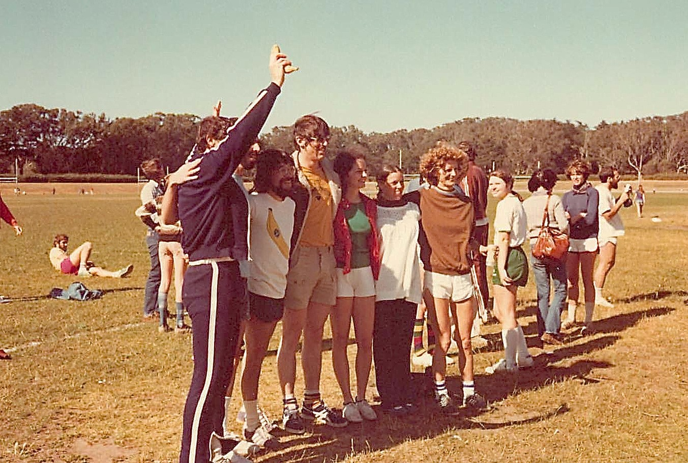 Mike Stallcup, Keith Yamamoto, Jose Bonner, Bonnie Maler, Toni King, Janet Ring 1977 Great Race II UCSF