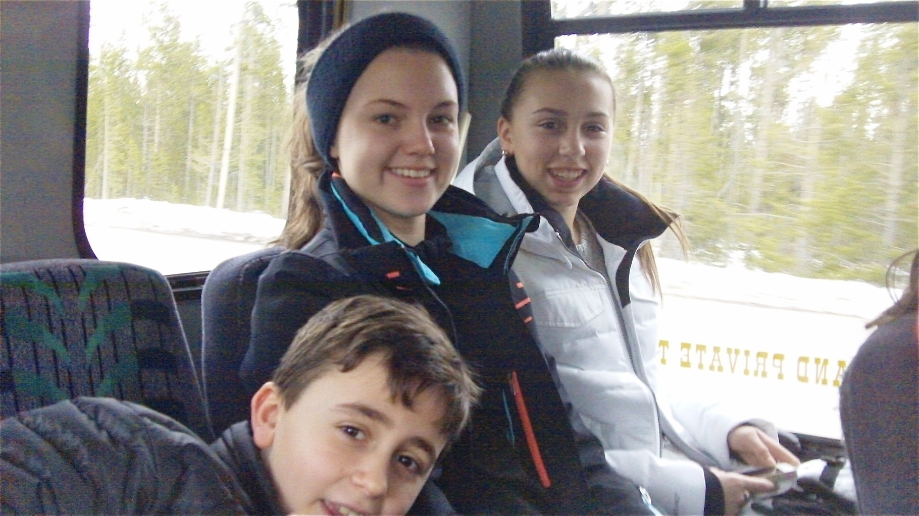 3-15-15 Trip to Yellowstone National Park; Stuart 3d, Kate, Gabby
