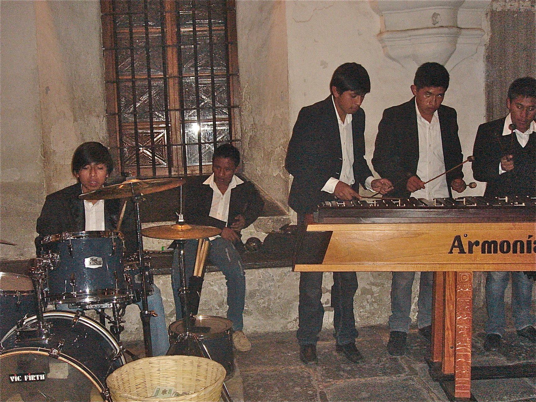 Marimba players in the town square
