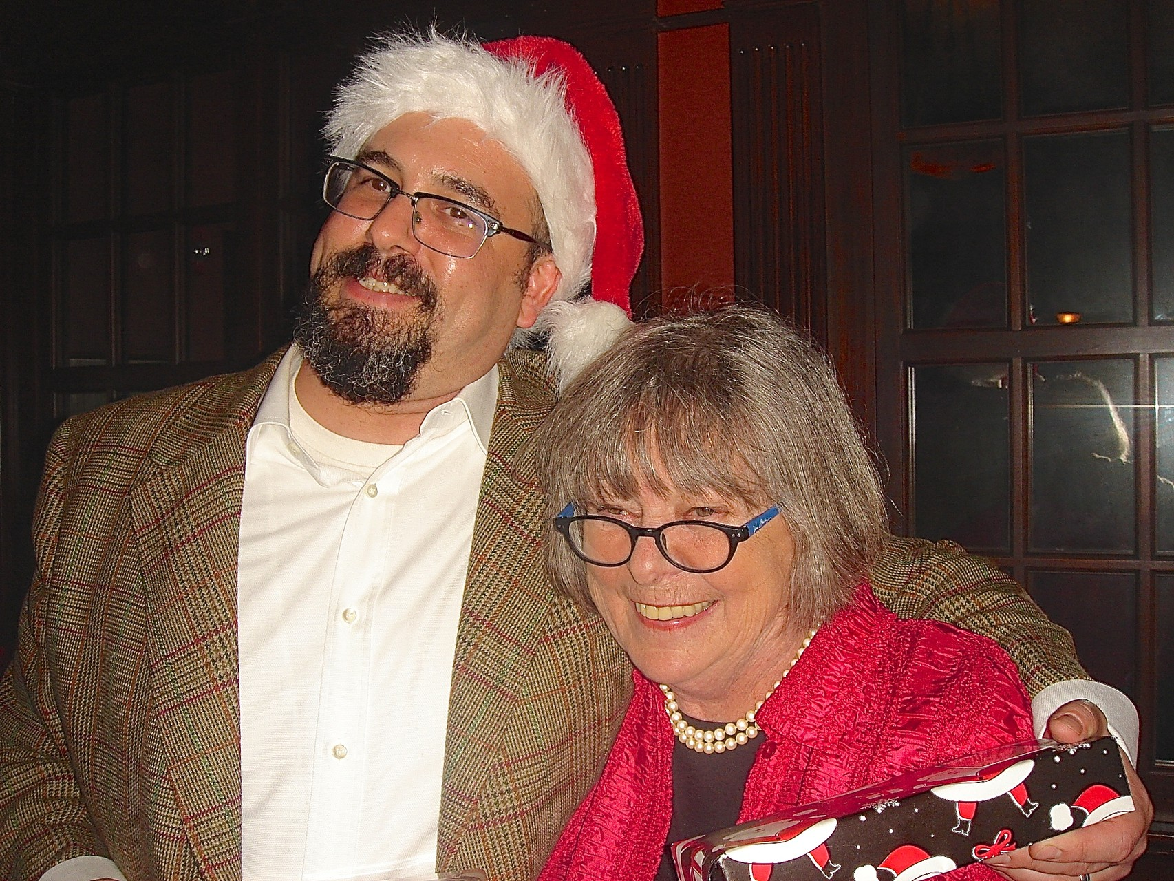 Party at the Old Lyme Inn, Dec. 12, 2015  A Kagel Early Xmas  Colin Cherot & Kathy Hutchins