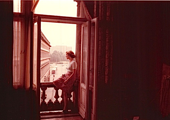 Lorraine Gudas (her mother is Eleanor Bogden Gudas) in Hotel Bristol, Warsaw. 1978