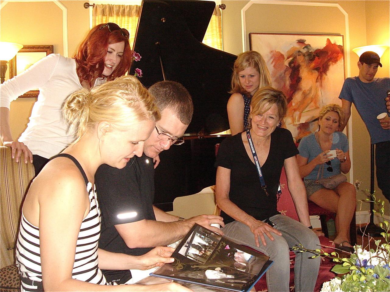 Sarah, Amy, Corey & Sally Wagner Schwarz, August 18, brunch