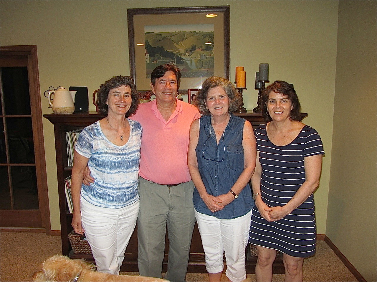 Ann Wagner Ackerman, John Wagner, Jane Elinson & Nancy Wagner (daughter & son of John & Mary Lou Wagner & daughters of Joe & Monica Wagner Minneapolis, MN July, 2014)