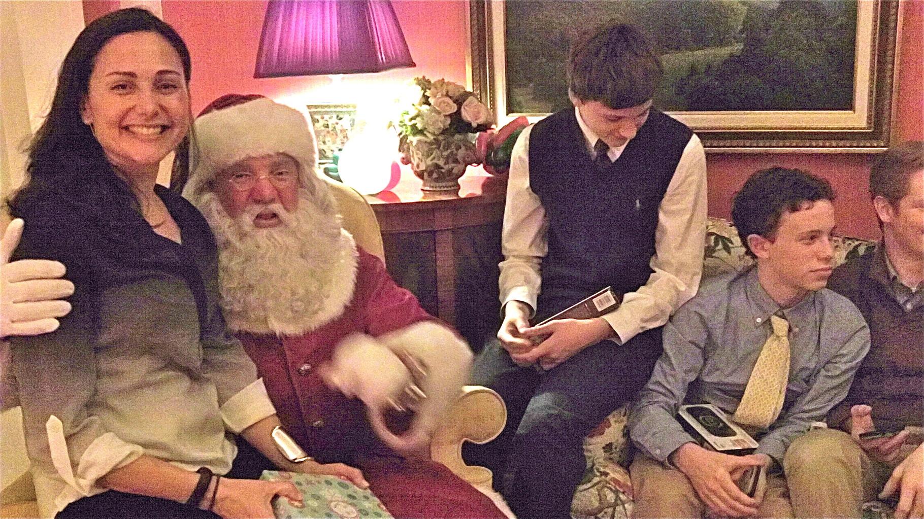 Allie Kagel & Santa