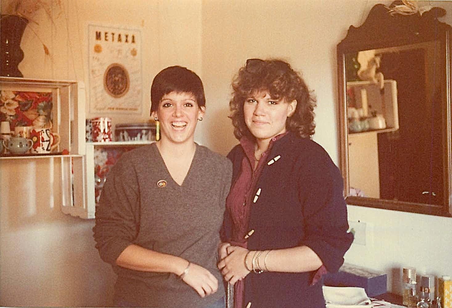 Liz Scheller & Celeste G., 1978, Smith College