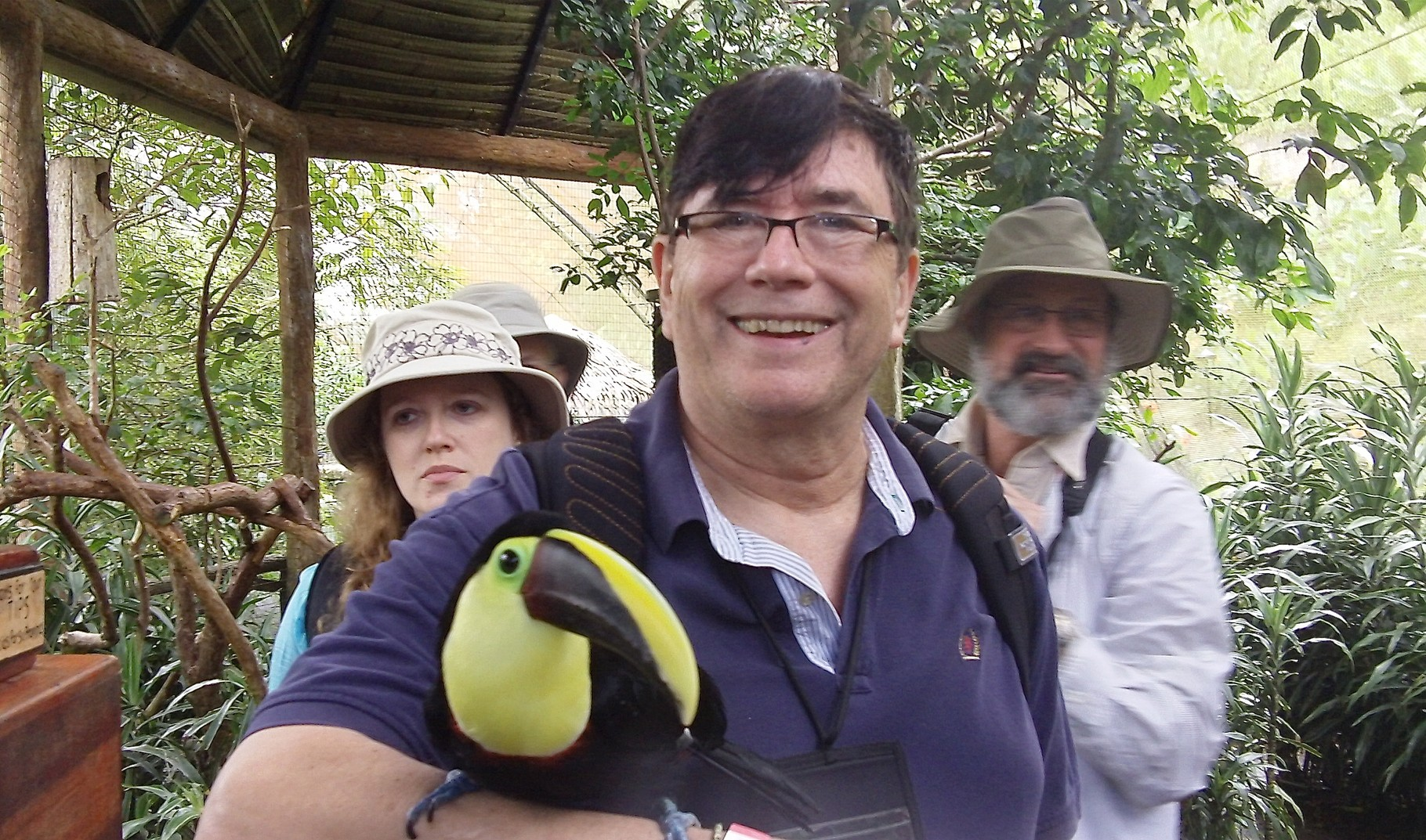 John Wagner with toucan, Costa Rica Feb. 2016